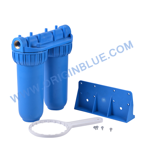 Double stages Water filter blue housing