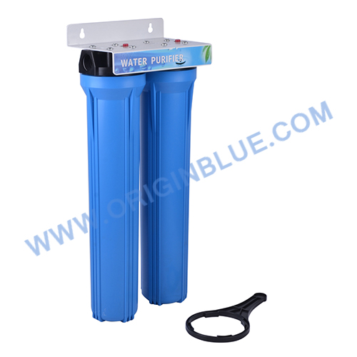 Double stage 20 inch water filter